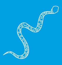 snake wriggling icon outline style vector image vector image