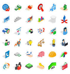 Speaking icons set isometric style vector