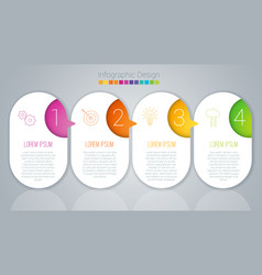 step by step template vector image