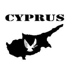Symbol of cyprus and map vector