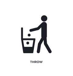 Throw isolated icon simple element from hygiene vector