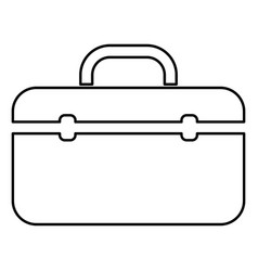 Tool box professional icon black color flat style vector