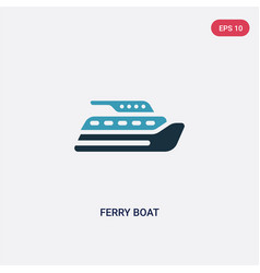 Two color ferry boat icon from transportation vector