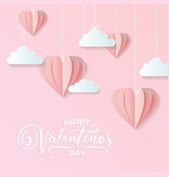 valentines craft paper design contain pink vector image