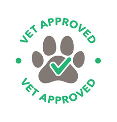 vet approved round icon badge logo vector image