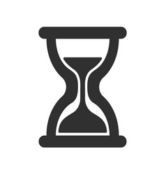 wait time hour glass icon shape vector image