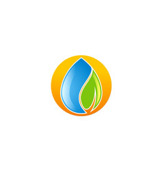 water droplet ecology logo vector image