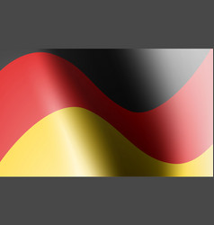 wave flag country with shadow and glare in vector image