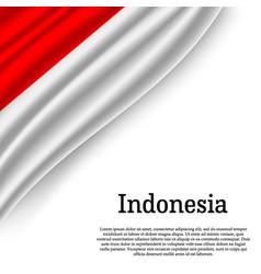 waving flag on white background vector image