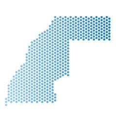 Western sahara map hex-tile scheme vector