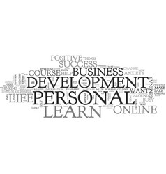 what you can learn about personal development vector image