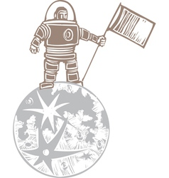 Astronaut on the Moon vector image