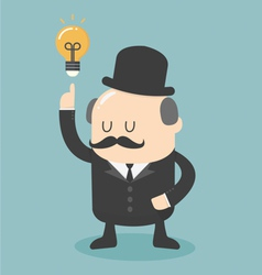 Business big boss get an idea vector image vector image