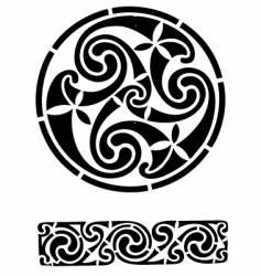 Celtic design works vector image vector image