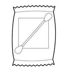 Cotton bud icon outline vector