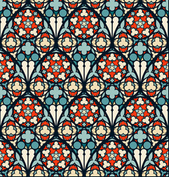 damask seamless pattern vector image