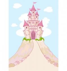 magic castle invitation card vector image vector image