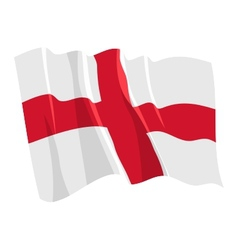 political waving flag of england vector image vector image