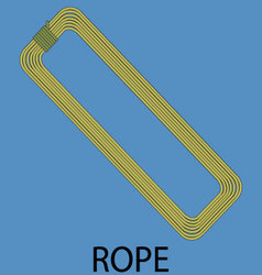 Rope climbing icon vector image