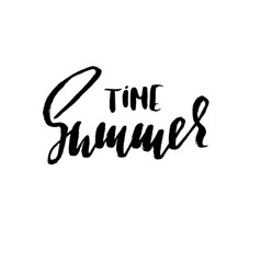 summer hand drawn lettering vector image vector image