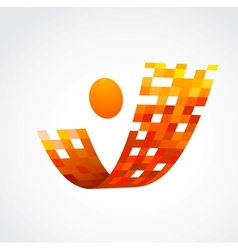 abstract human icon business and success vector image