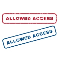 Allowed access rubber stamps vector
