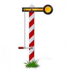 railroad semaphore vector image