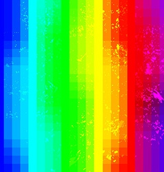 Rainbow abstract squared background with grunge vector image vector image