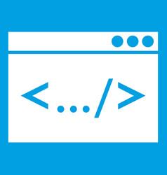 code window icon white vector image
