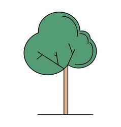 cute green tree vector image
