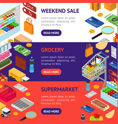 e-commerce banner horizontal set vector image vector image