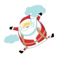 Extreme Santa vector image vector image