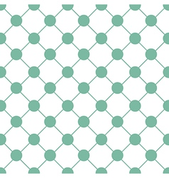 Green Polka dot Chess Board Grid White vector image
