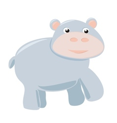 Happy hippo baby isolated on white background vector image vector image
