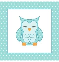 Sleeping owl Applique Patchwork Pattern vector image vector image