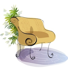 Stylized Bench Sketch vector image vector image