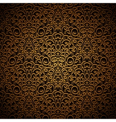 Vintage gold pattern vector image