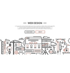 Web Design - line website banner temlate vector image