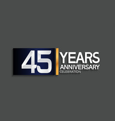 45 years anniversary logotype with blue vector