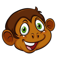A head of a monkey vector image