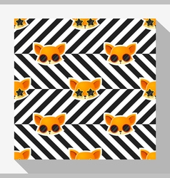 Animal seamless pattern collection with fox 7 vector image