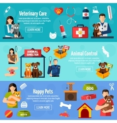 Animal shelter banner set vector