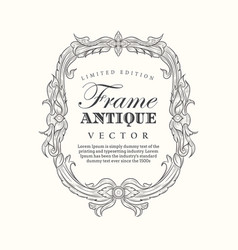 Antique frame hand drawn vintage label banner vector