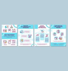 Asd treatment brochure template vector