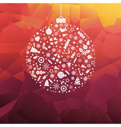Background With New Years Sphere vector