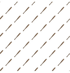 Baseball bat pattern vector