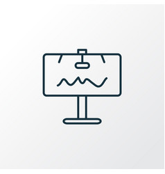 billboard icon line symbol premium quality vector image