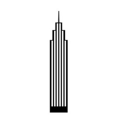 Black icon skyscraper cartoon vector