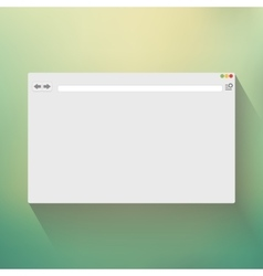 Blank window of internet browser vector