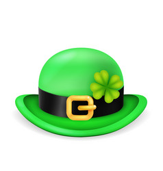 bowler hat saint patrick day ireland feast 3d vector image